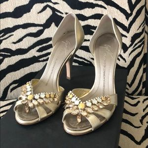 Gorgeous Giuseppe Zanotti jeweled heeled/sandals